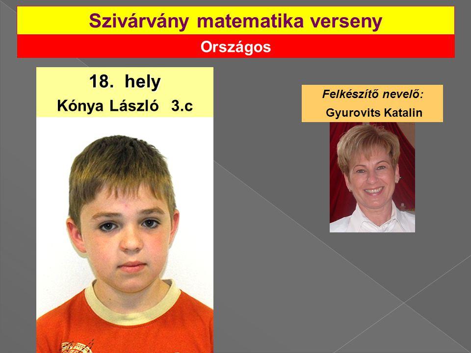 Országos Szivárvány matematika verseny 18.