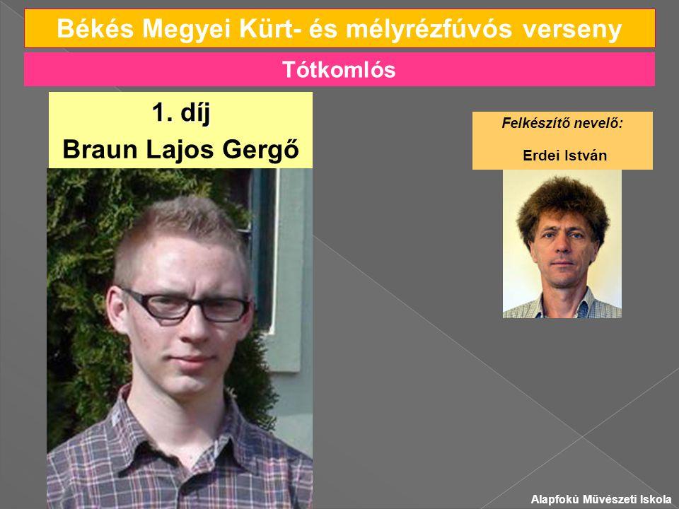 Békés Megyei Kürt- és mélyrézfúvós verseny Braun Lajos Gergő 1.