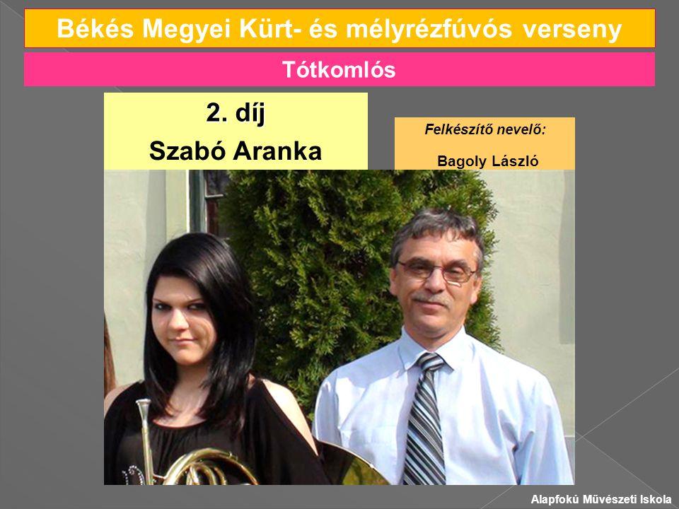 Békés Megyei Kürt- és mélyrézfúvós verseny Szabó Aranka 2.