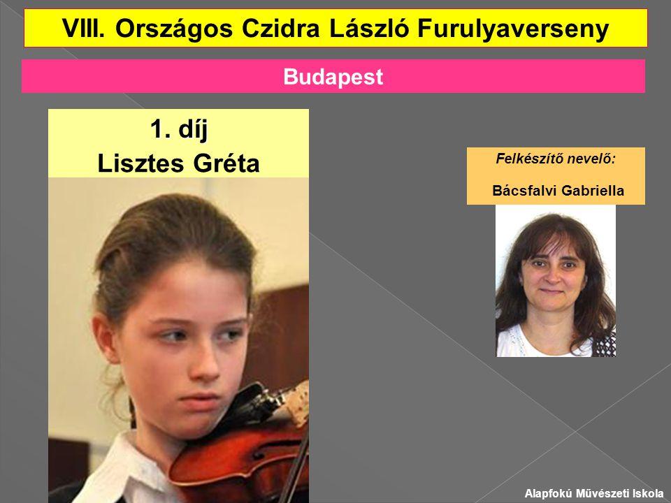 VIII.Országos Czidra László Furulyaverseny Lisztes Gréta 1.