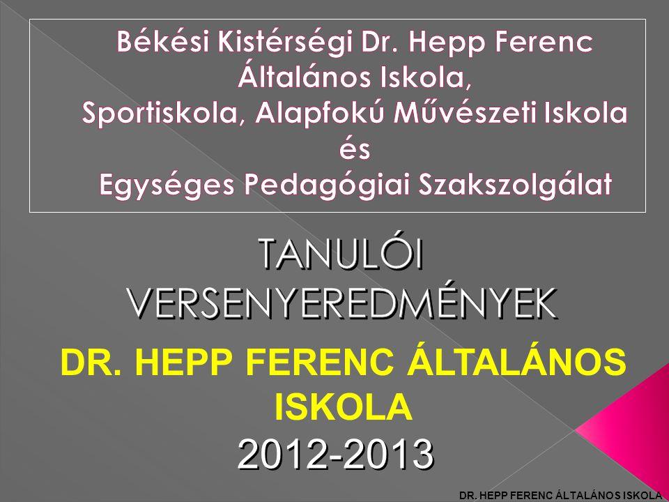 DR. HEPP FERENC ÁLTALÁNOS ISKOLA 2012-2013 DR. HEPP FERENC ÁLTALÁNOS ISKOLA