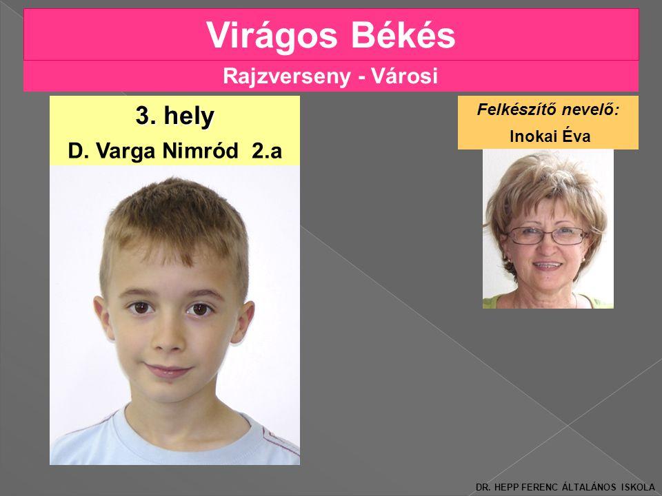 Rajzverseny - Városi Virágos Békés D.Varga Nimród 2.a 3.