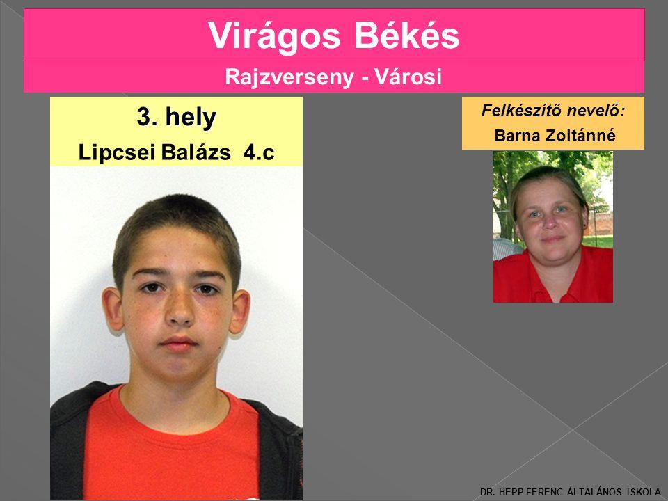 Rajzverseny - Városi Virágos Békés Lipcsei Balázs 4.c 3.