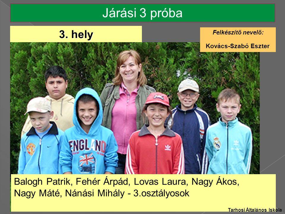 Járási 3 próba Balogh Patrik, Fehér Árpád, Lovas Laura, Nagy Ákos, Nagy Máté, Nánási Mihály - 3.osztályosok 3.
