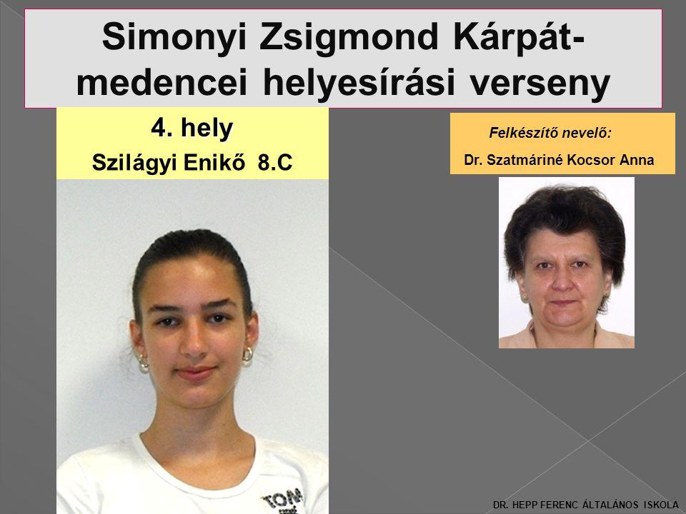 Területi Simonyi Zsigmond Kárpát- medencei helyesírási verseny 4.