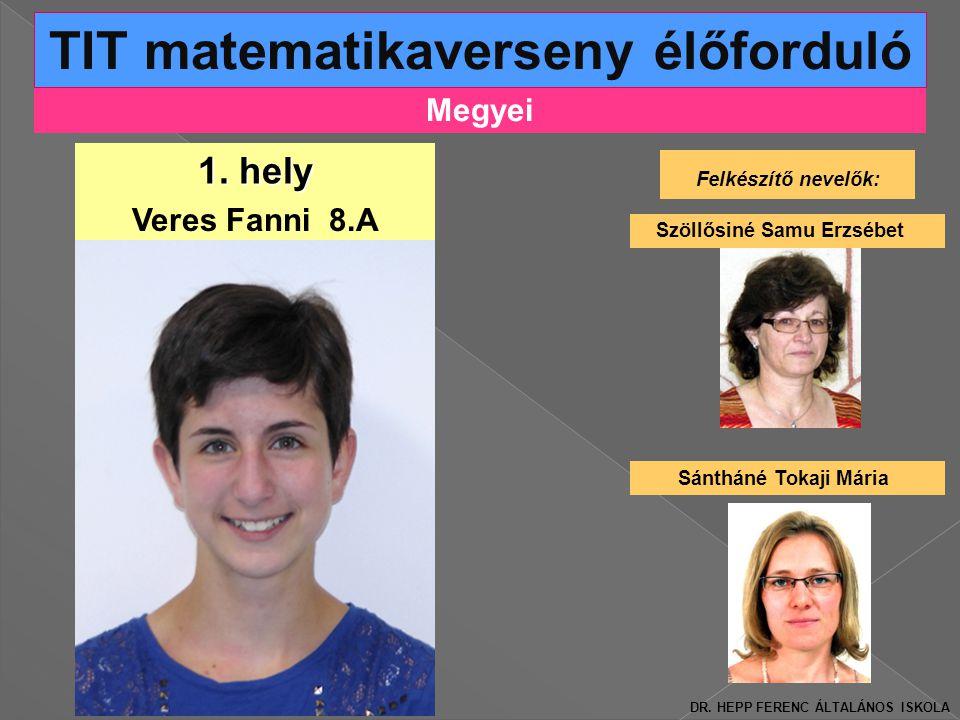 Megyei TIT matematikaverseny élőforduló 1.
