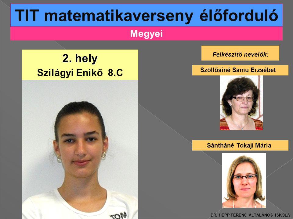 Megyei TIT matematikaverseny élőforduló 2.