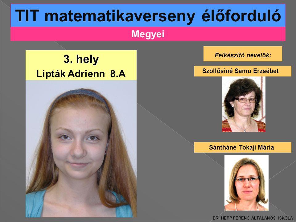 Megyei TIT matematikaverseny élőforduló 3.