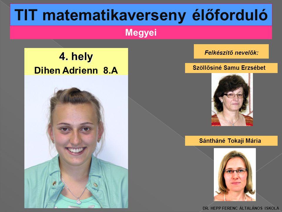 Megyei TIT matematikaverseny élőforduló 4.