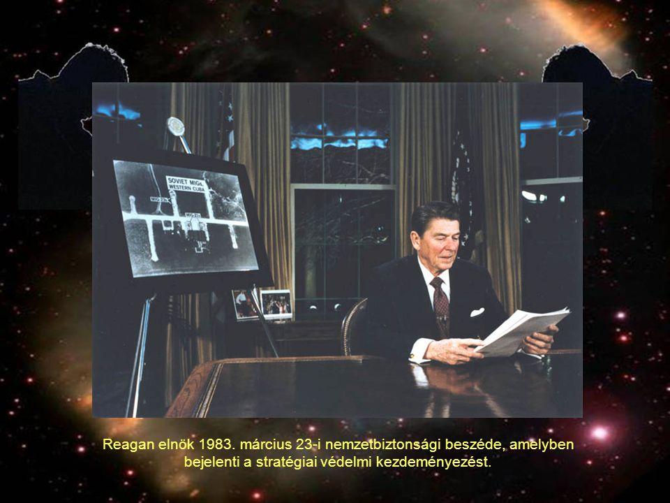 Reagan elnök 1983. március 23-i nemzetbiztonsági beszéde, amelyben bejelenti a stratégiai védelmi kezdeményezést.