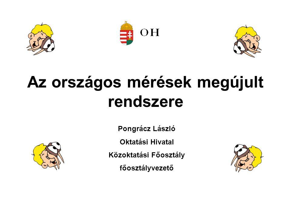 Az országos mérések megújult rendszere Pongrácz László Oktatási Hivatal Közoktatási Főosztály főosztályvezető