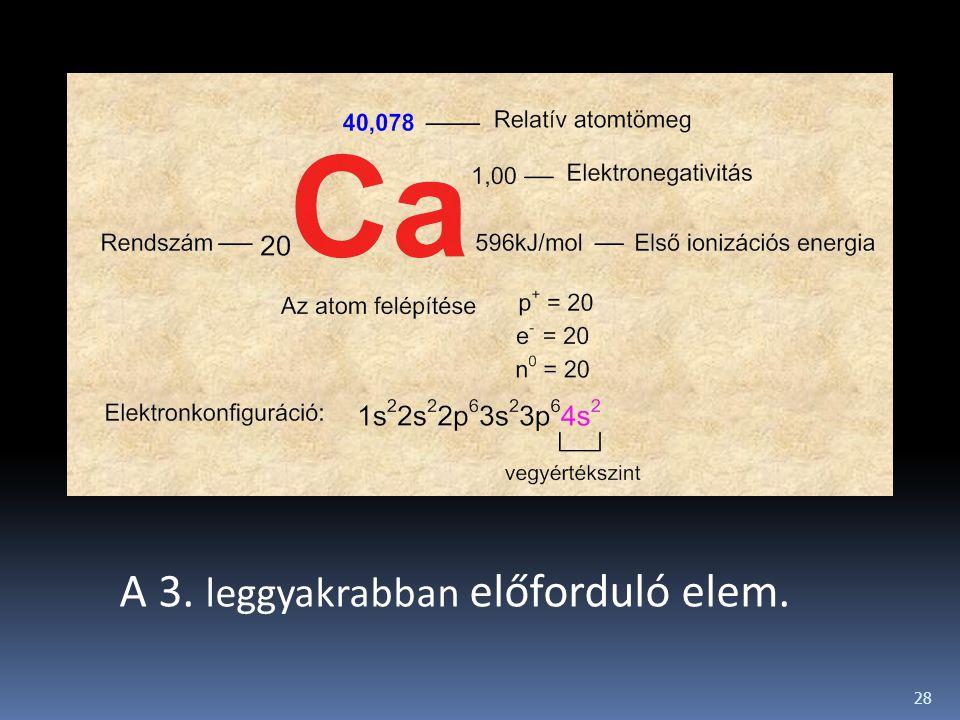 28 A 3. leggyakrabban előforduló elem.