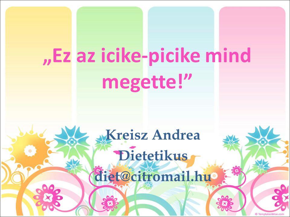"""Ez az icike-picike mind megette!"" Kreisz Andrea Dietetikus diet@citromail.hu"