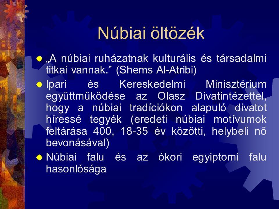 """Núbiai öltözék  """"A núbiai ruházatnak kulturális és társadalmi titkai vannak."""" (Shems Al-Atribi)  Ipari és Kereskedelmi Minisztérium együttműködése a"""