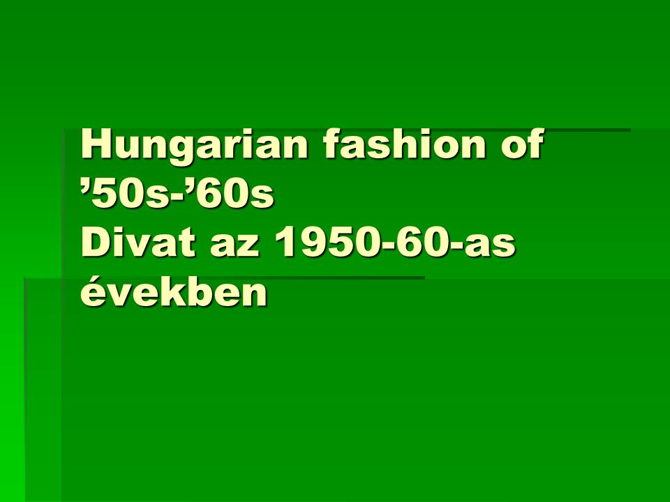 Age of Rakosi regime / Rákosi korszak / 1949-56