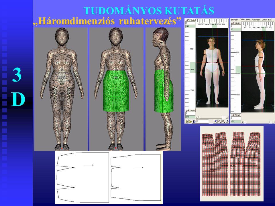 """TUDOMÁNYOS KUTATÁS """"Háromdimenziós ruhatervezés"""" 3D3D"""
