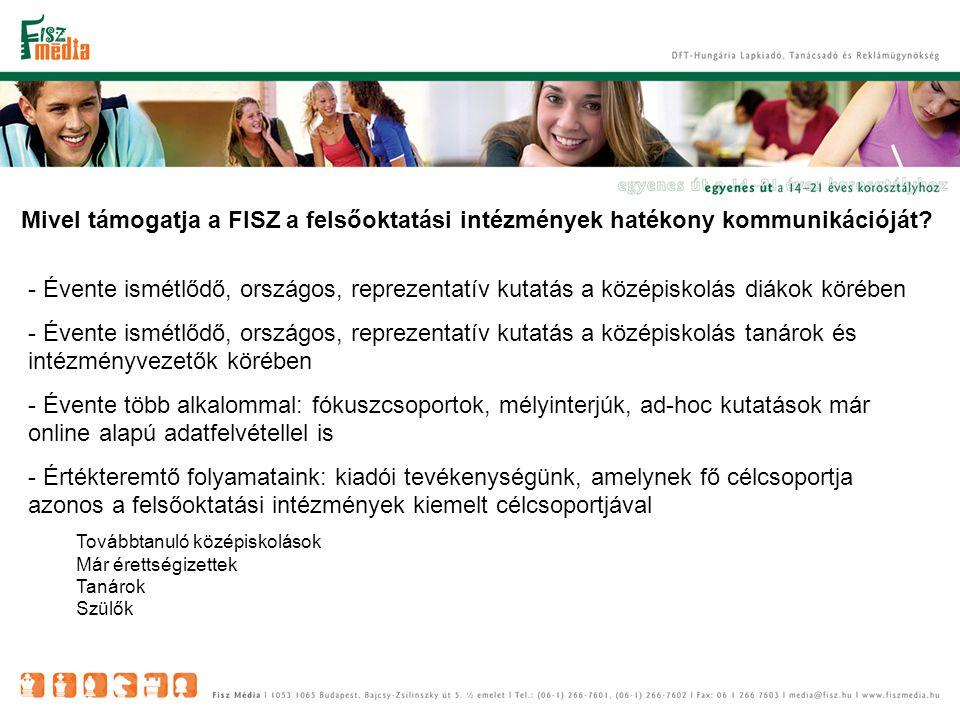 Mivel támogatja a FISZ a felsőoktatási intézmények hatékony kommunikációját.