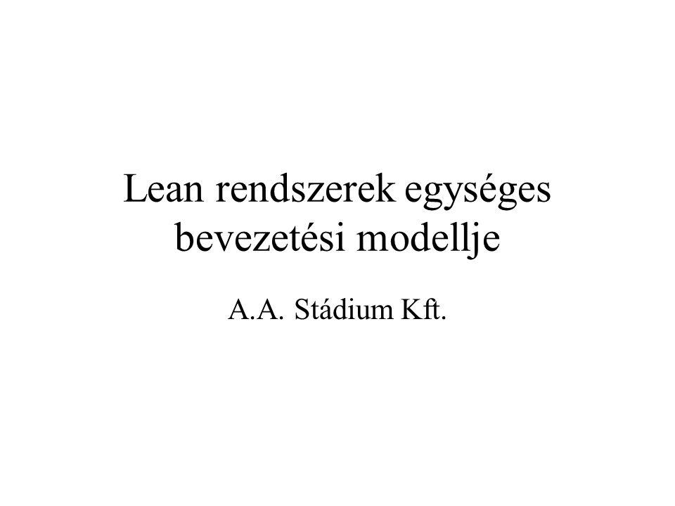 Lean rendszerek egységes bevezetési modellje A.A. Stádium Kft.