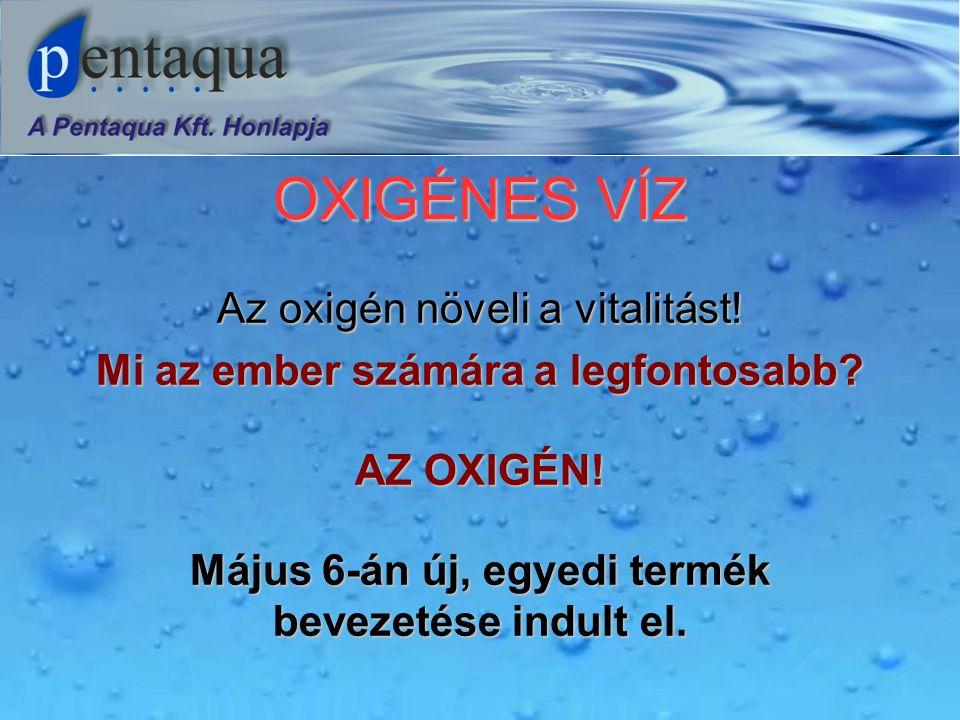 OXIGÉNES VÍZ Az oxigén növeli a vitalitást. Mi az ember számára a legfontosabb.