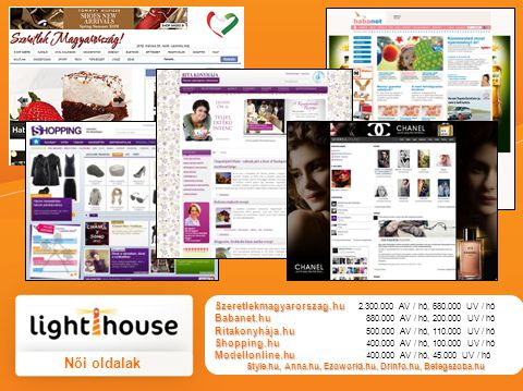 Diningguide.hu + 19 blogger Diningguide.hu + 19 blogger 390.000 AV / hét, 150.000 UV / hét Fashion-guide.hu + Modellonline.hu + 9 blogger Fashion-guide.hu + Modellonline.hu + 9 blogger 130.000 AV / hét, 40.000 UV / hét Trendguide.hu + 11 blogger Trendguide.hu + 11 blogger 130.000 AV / hét, 40.000 UV / hét Men's Guide 10 blogger Men's Guide 10 blogger 190.000 AV / hét, 115.000 UV / hét Blog csomagok