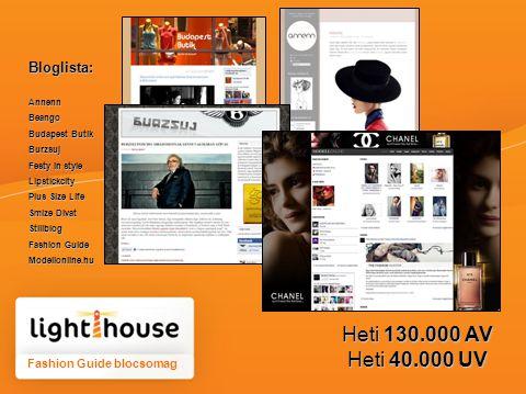 Fashion Guide blocsomag Bloglista:AnnennBeango Budapest Butik Burzsuj Festy in style Lipstickcity Plus Size Life Smize Divat Stillblog Fashion Guide Modellonline.hu Heti 130.000 AV Heti 40.000 UV