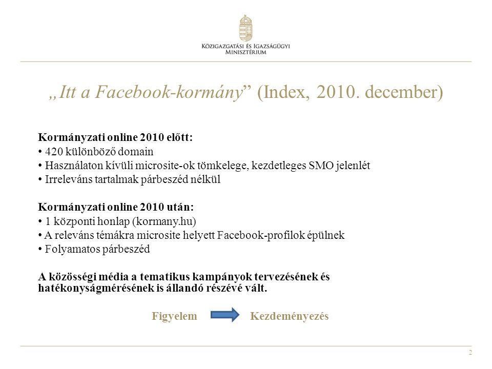 """2 """"Itt a Facebook-kormány (Index, 2010."""