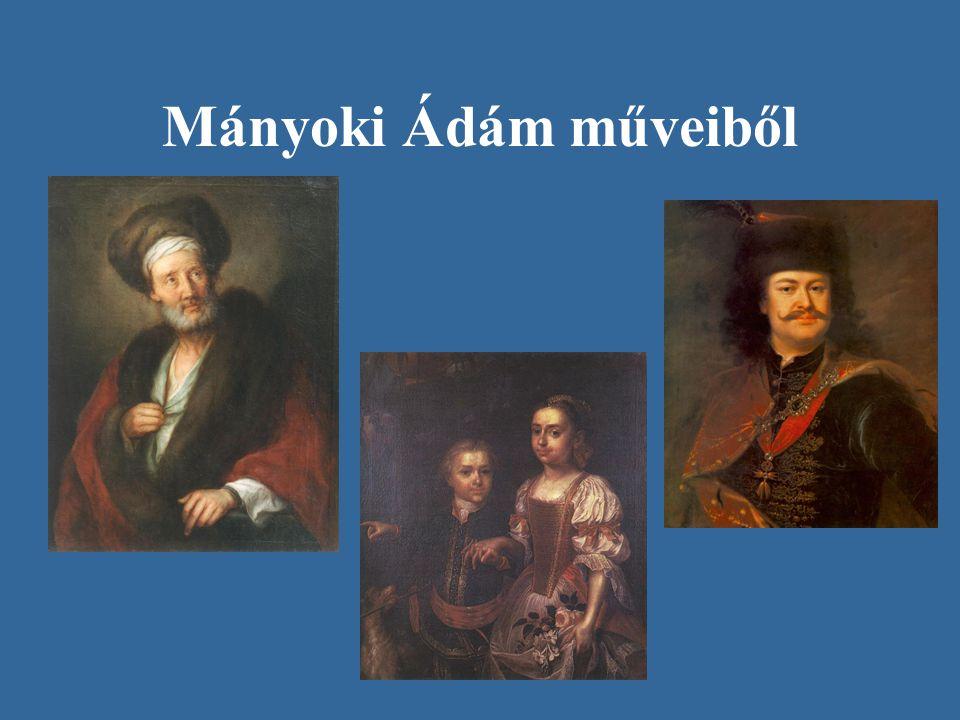 Mányoki Ádám műveiből