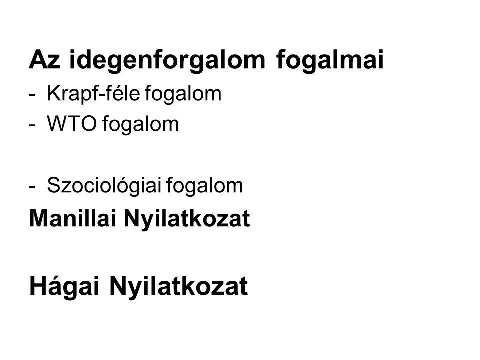 Turizmus bevételei - nemzetközi idegenforgalmi bevételek - Magyarország idegenforgalmi bevételei - turizmus devizamérlege Turizmus gazdasági jelentősége - GDP (közvetlen és közvetett) - kormányzati kiadások - tőkebefektetések - foglalkoztatás (közvetlen és közvetett) - turizmus szatelit-számla (TSZSZ) Turizmus társadalmi és kulturális hatásai Turizmus környezeti hatásai