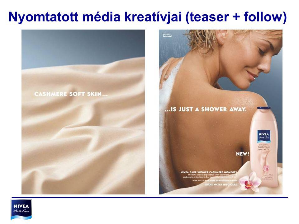 Nyomtatott média kreatívjai (teaser + follow)