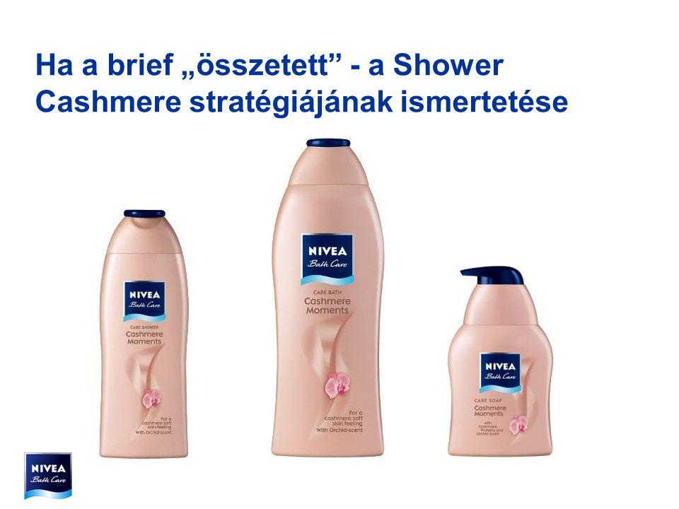 Készítsünk olyan média stratégiát, aminek segítségével eredményesen oldható meg a NIVEA Bath Care Range 2006-os újra bevezetése. Fókusz az új Nivea Bath Care Cashmere termék bevezetésén.