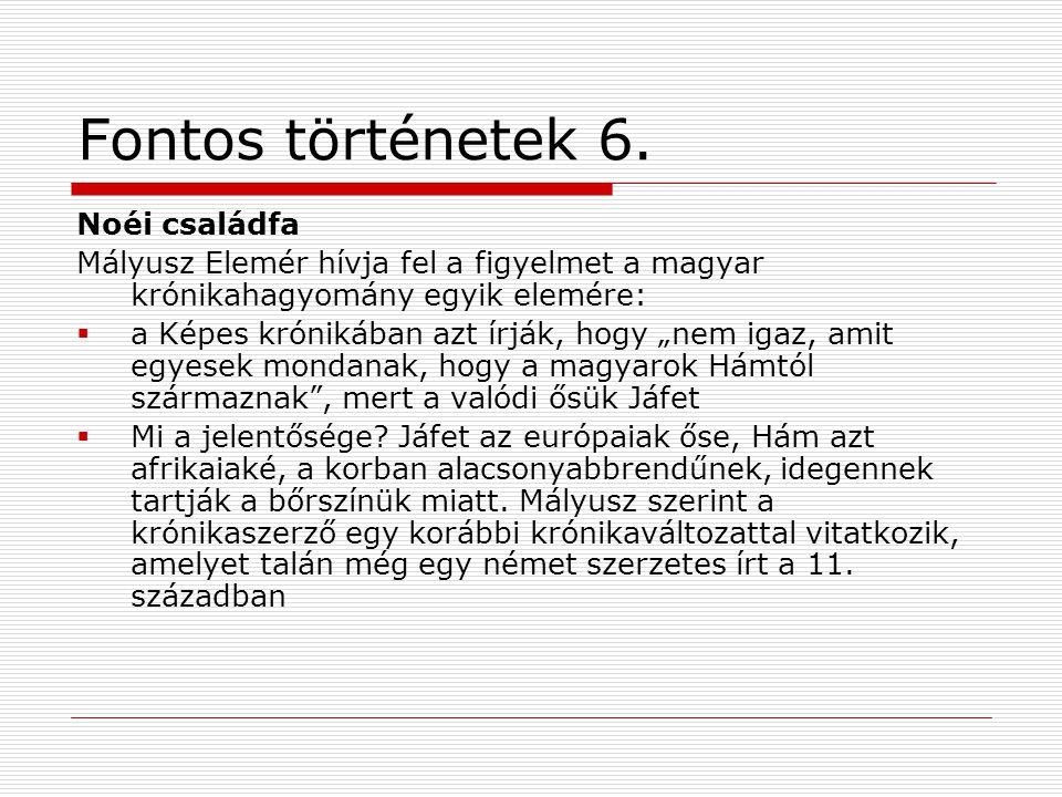 Fontos történetek 6.