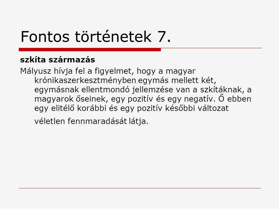 Fontos történetek 7.