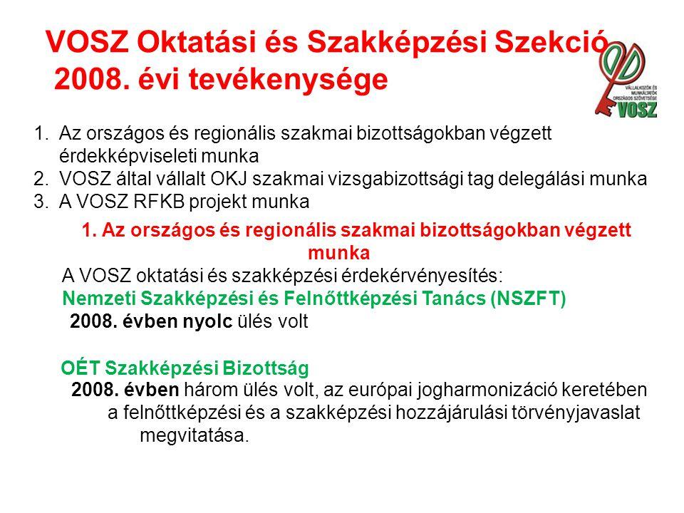 VOSZ Oktatási és Szakképzési Szekció 2008.