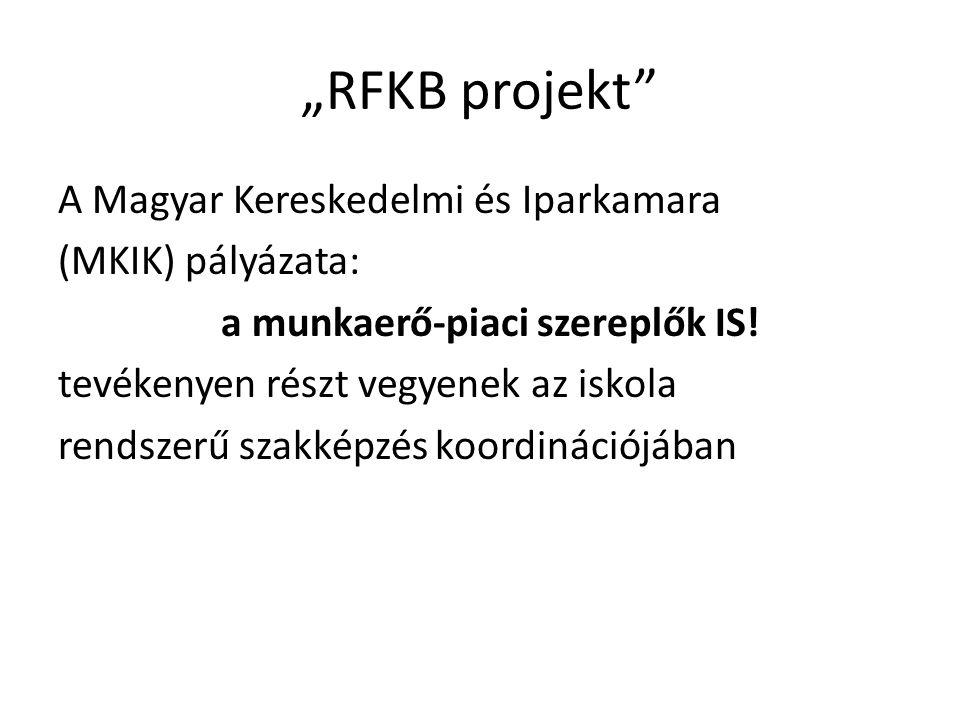 """""""RFKB projekt A Magyar Kereskedelmi és Iparkamara (MKIK) pályázata: a munkaerő-piaci szereplők IS."""