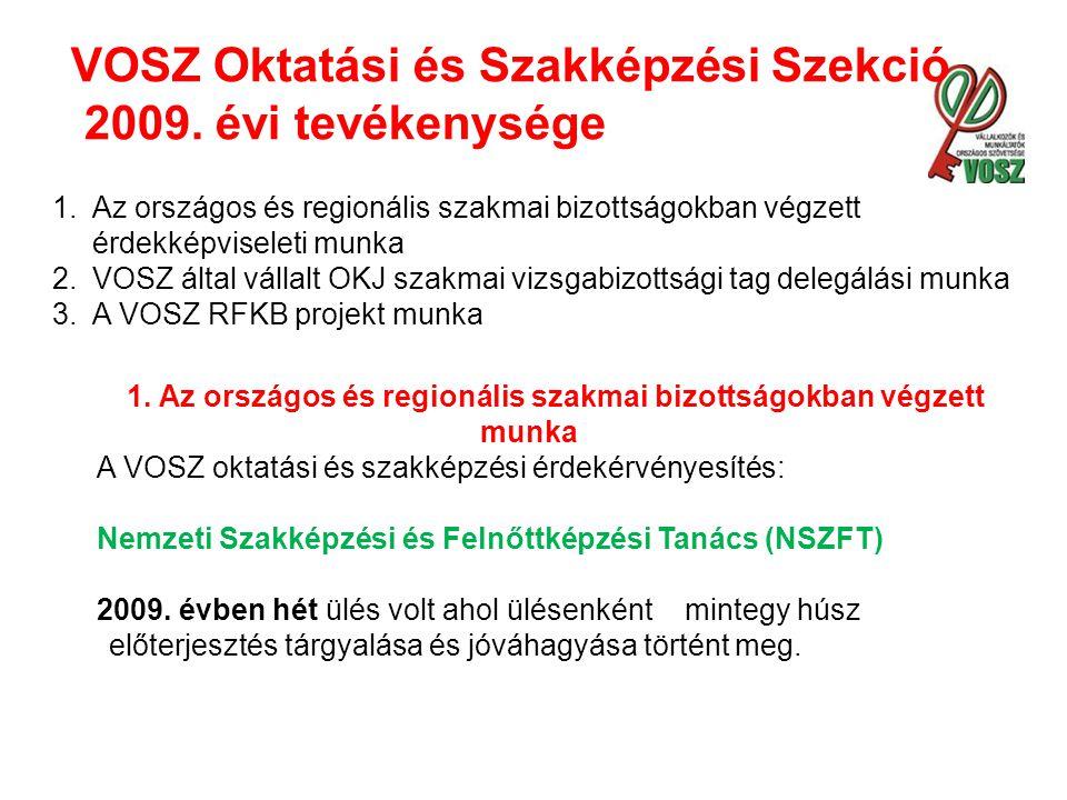 VOSZ Oktatási és Szakképzési Szekció 2009.