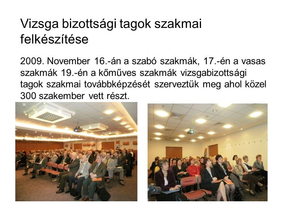 Vizsga bizottsági tagok szakmai felkészítése 2009.