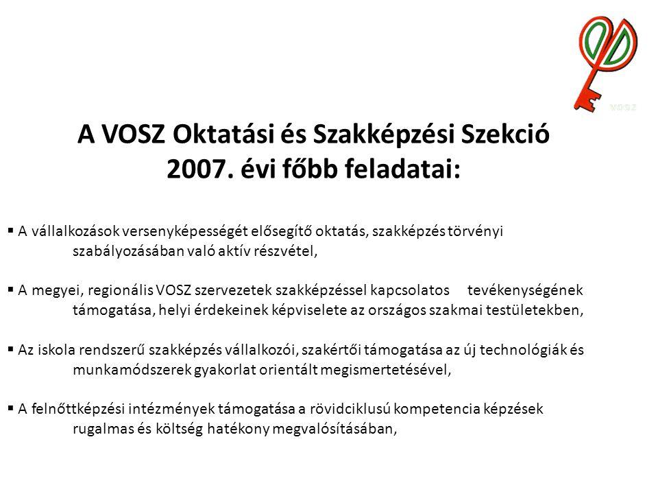 A VOSZ Oktatási és Szakképzési Szekció 2007.
