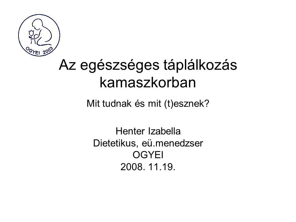 Szakmai–tudományos állásfoglalás az étrend- kiegészítőkről Magyar Táplálkozástudományi Társaság (MTT) 25.