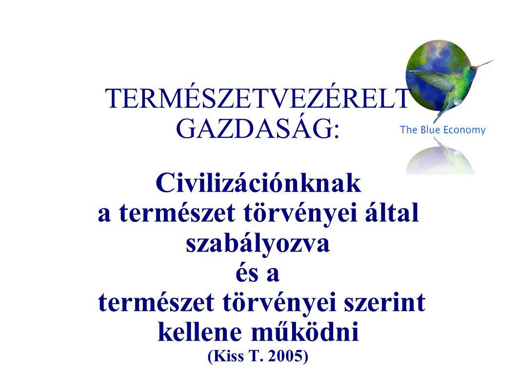 TERMÉSZETVEZÉRELT GAZDASÁG: Civilizációnknak a természet törvényei által szabályozva és a természet törvényei szerint kellene működni (Kiss T. 2005)