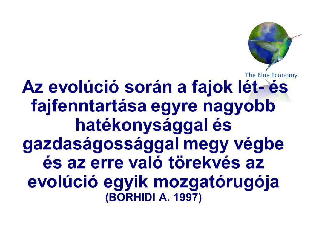 Az evolúció során a fajok lét- és fajfenntartása egyre nagyobb hatékonysággal és gazdaságossággal megy végbe és az erre való törekvés az evolúció egyi