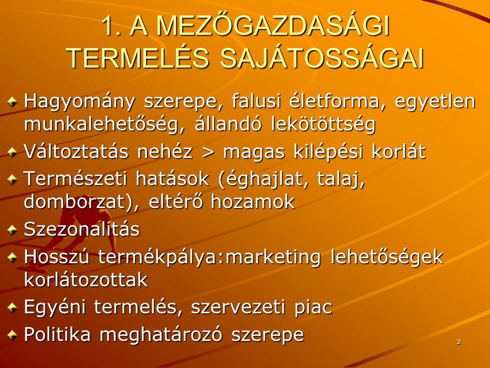 13 Kényelmi motivációKönnyű beszerezhetőség, azonnali fogyaszthatóság Termék, csatorna, kommunikáció fontos, az ár nem Biztonsági motivációEgészség megőrzés, káros anyagok kizárása Célirányos információ igény Társadalmi motivációKörnyezeti, családi hagyományok, vallás szerepe, igazodás a társadalmi elvárásokhoz Presztízs motivációTradíció, minőség, imázs, márka, gasztronómia Ökológiai motivációKörnyezetbarát gondolkodás Társadalmi-marketing koncepció Politikai motivációCél: magyar munkahelyek megtartása Hungaricumok Regionális motivációSzülőföld étkezési szokásai Potencionális piac: külföldön élő magyarok