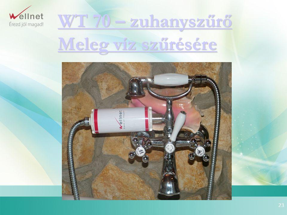23 WT 70 – zuhanyszűrő Meleg víz szűrésére WT 70 – zuhanyszűrő Meleg víz szűrésére