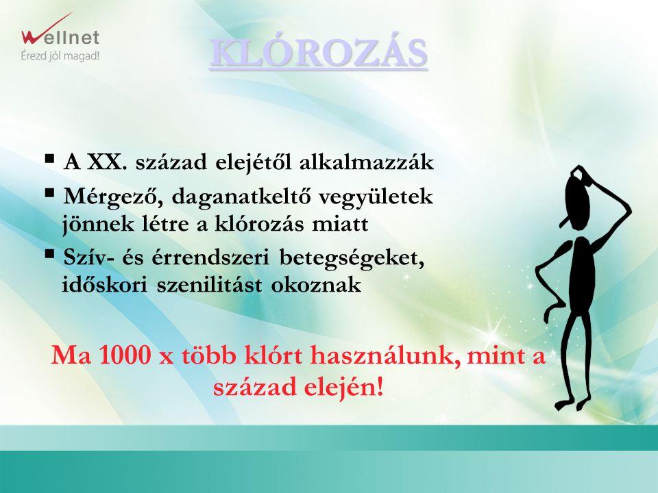 1.Szabad klór ( rendkívül reaktív méreg, amely a szervezetben mindennel reakcióba lép) 2.
