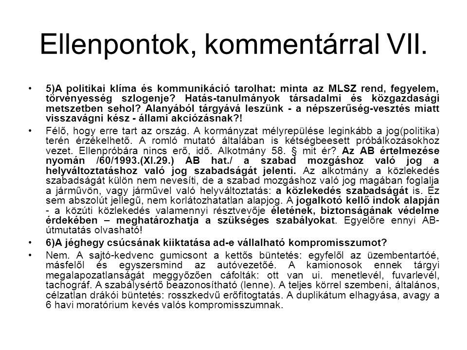 Ellenpontok, kommentárral VII.