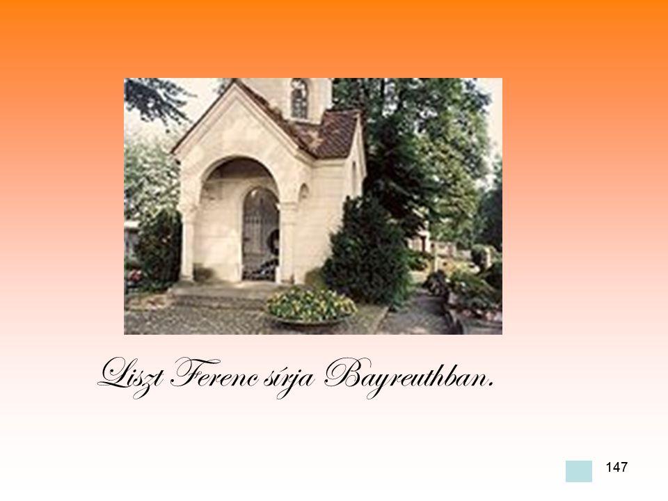 147 Liszt Ferenc sírja Bayreuthban.