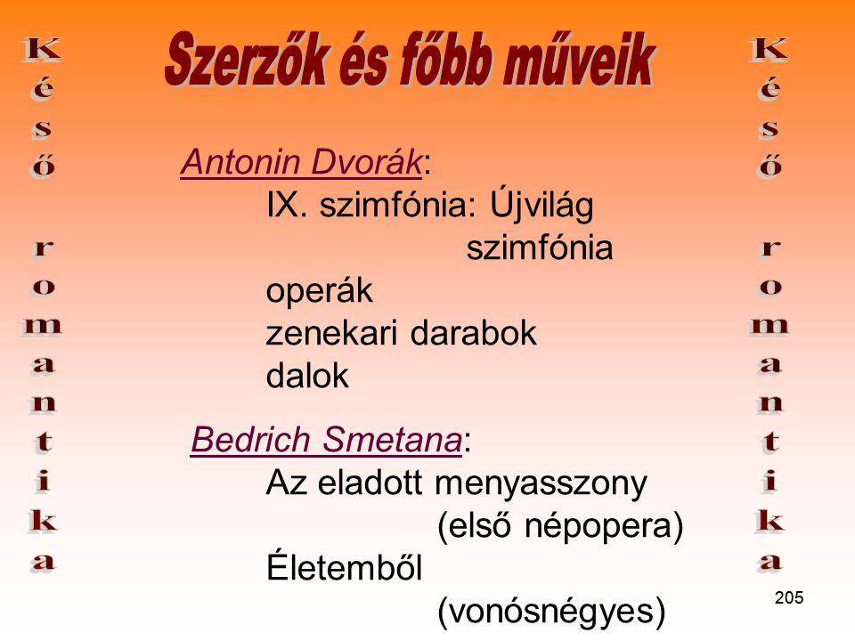 205 Antonin Dvorák: IX.
