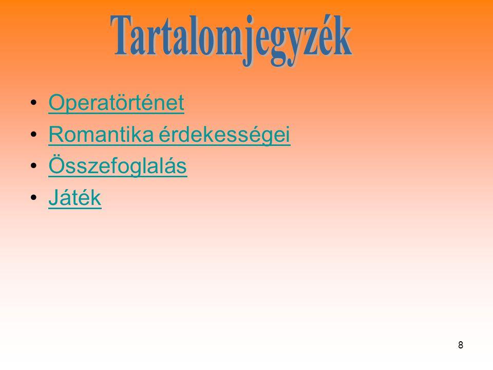 29 •A szimfonikus költemény többnyire egybekomponált mű, szemben a többtételes klasszikus szimfónia hagyományos 4 tételes rendjével.
