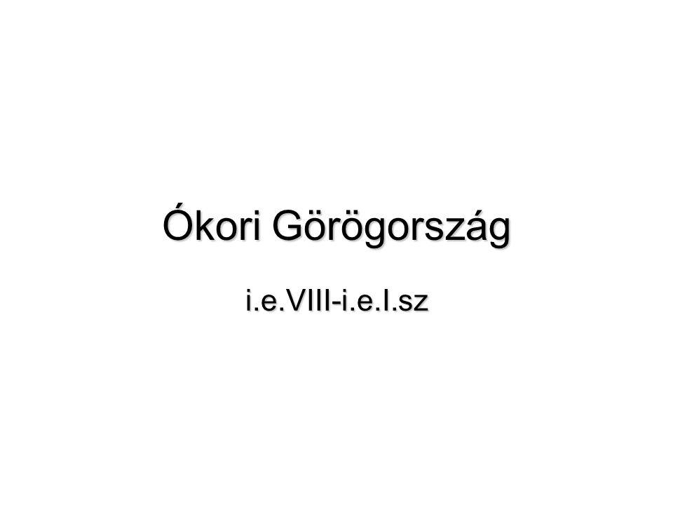 TÖRTÉNETI ÉS MŰVÉSZETI KORSZAKOK •Kr.e. IV – III.
