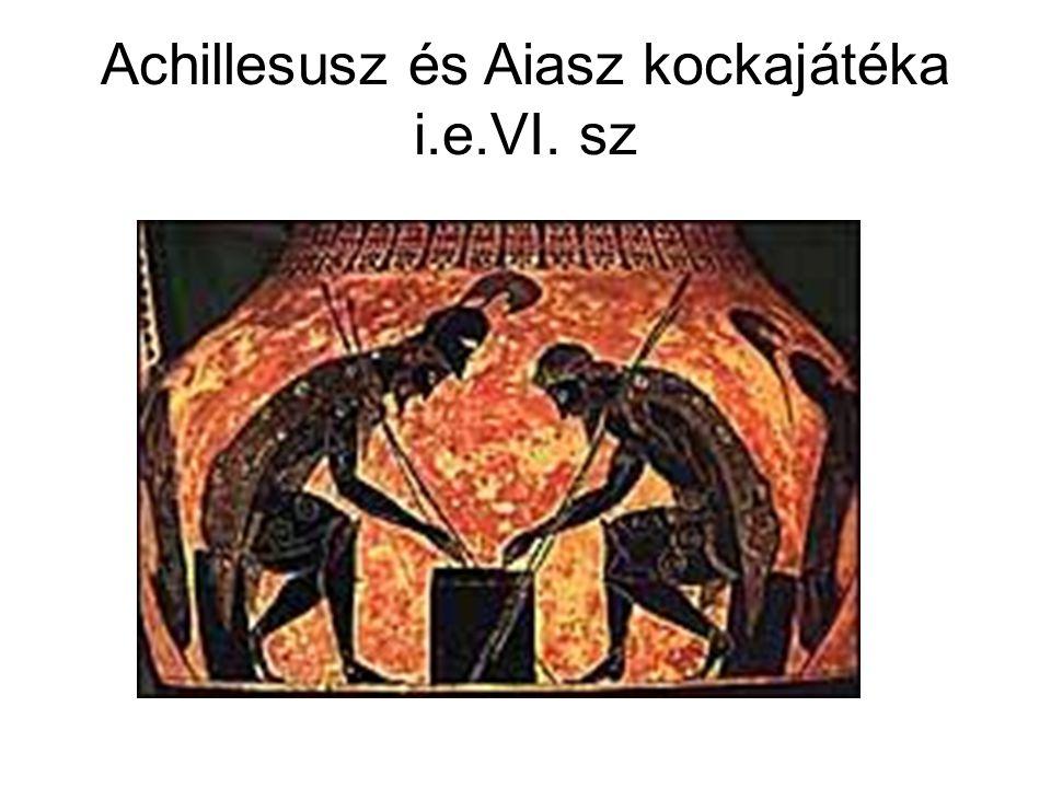 Achillesusz és Aiasz kockajátéka i.e.VI. sz