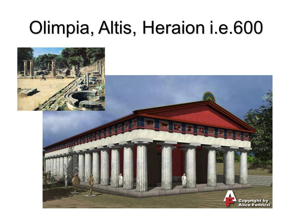 Olimpia, Altis, Heraion i.e.600